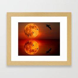 On Sunset Wings Framed Art Print