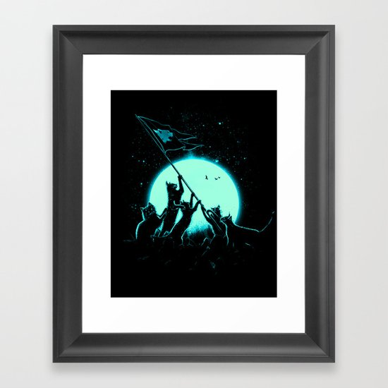 Freedom Cats Framed Art Print