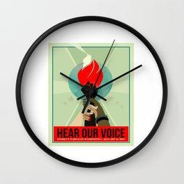 Hear our Voice Wall Clock
