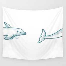 Dolphine Love Wall Tapestry