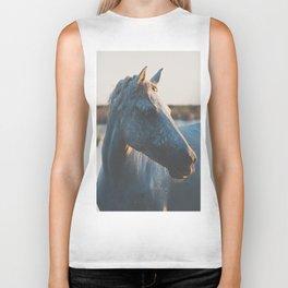 a horse in portrait ... Biker Tank