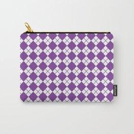 Purple Diamonds Carry-All Pouch