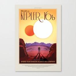 Kepler-16b - NASA Space Travel Poster Canvas Print