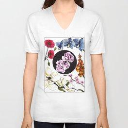 June Florals Unisex V-Neck