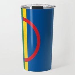 Sami people ethnic scandinavian Flag Travel Mug