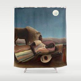 Henri Rousseau - The Sleeping Gypsy Shower Curtain