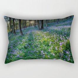 Bluebell sunset at Margam woods Rectangular Pillow