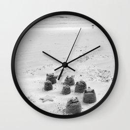 Sand Castles landscape beach Wall Clock