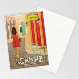 Lefkada, A walk in the city (GR) Stationery Cards