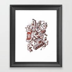 Small City - Brown Framed Art Print