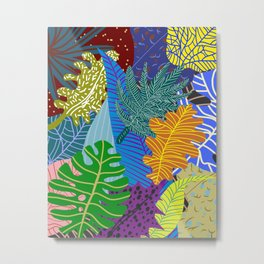Lush Leaves Metal Print