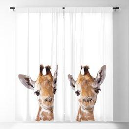 Baby Giraffe, Baby Animal Art Prints By Synplus Blackout Curtain