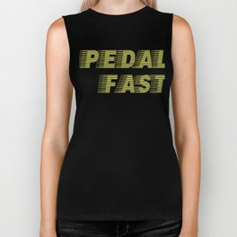 Pedal Fast Cycling I Love Pedaling Riding Bikes Green Biker Tank