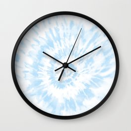 Lighter Ocean Blue Tie Dye Wall Clock