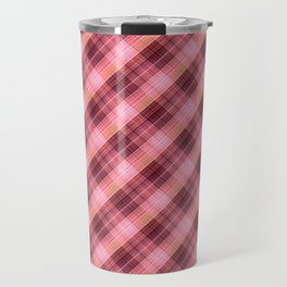 colorful plaid, plaid plaid, beautiful plaid, checkered pattern Travel Mug