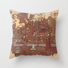 Pittsburgh Island Throw Pillow