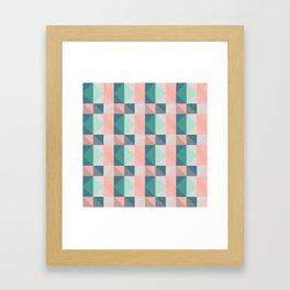 Seafoam Plaid Framed Art Print