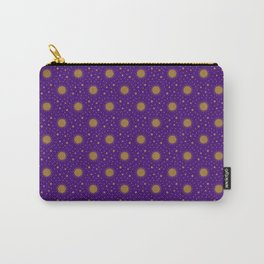 Astrological Purple Stars and Sun Carry-All Pouch