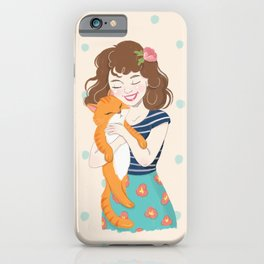 Lovely Cat Mom iPhone Case