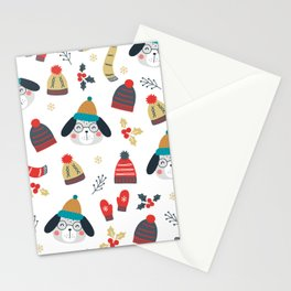 Merry Christmas and Lovely Dog Stationery Cards