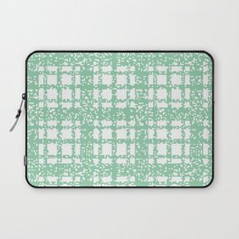 8 Bit Plaid | Mint Laptop Sleeve