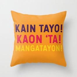 Filipino Kitchen Loteria - Let's Eat Throw Pillow