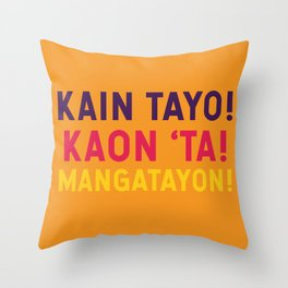 Filipino Kitchen Loteria - Let's Eat Throw Pillow