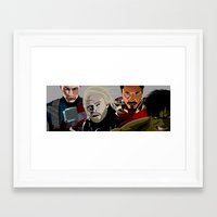young avengers Framed Art Prints featuring Avengers by burga