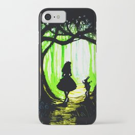 alice and rabbits iPhone Case