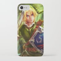 legend of zelda iPhone & iPod Cases featuring Link - Legend of Zelda by Sanjin Halimic