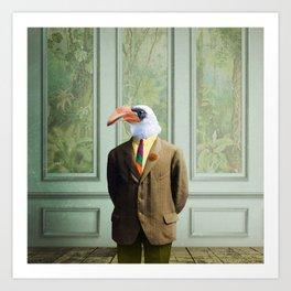 Harvey Hornbill in the Parlor Art Print