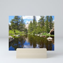 Fresh Rocky Mountain Snow Melt Lake Mini Art Print