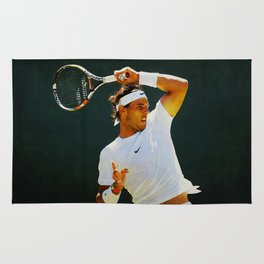 Nadal Tennis Over the Head Forehand Rug