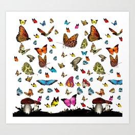 Butterfly´s friends Art Print
