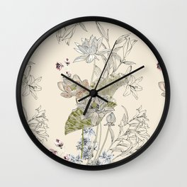 Lotus art Wall Clock