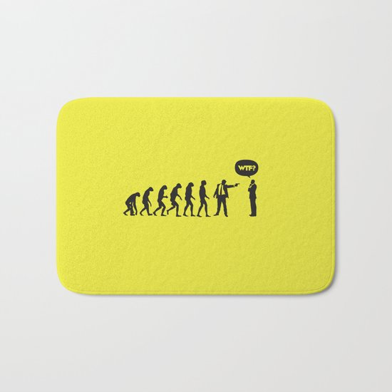 WTF? Evolution! Bath Mat