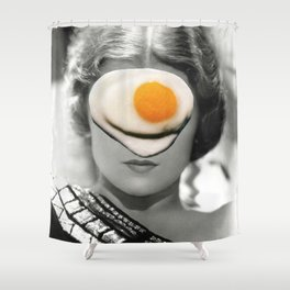 Thank God It's Fried Egg Shower Curtain