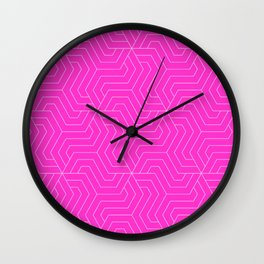 Razzle dazzle rose - pink - Modern Vector Seamless Pattern Wall Clock