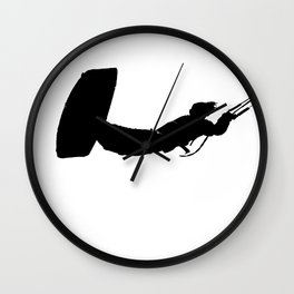 Getting High Kiteboarder Silhouette Wall Clock