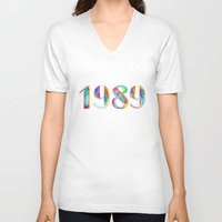 1989 V-neck T-shirts featuring 1989 by Christina Guo