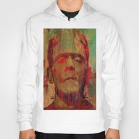 frankenstein Hoodies featuring frankenstein by Joe Ganech