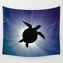 Sea Turtle Eclipse Wall Tapestry