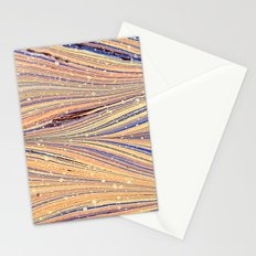 Marbled White Light Flow Stationery Cards
