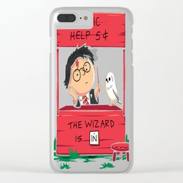 Wizard For Hire Clear iPhone Case