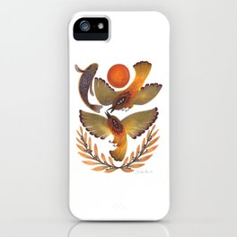 Fighting Birds iPhone Case