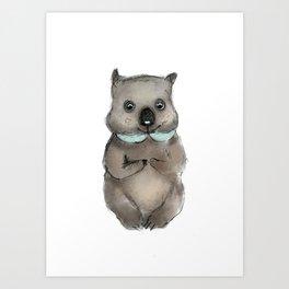 Wombat Art Print