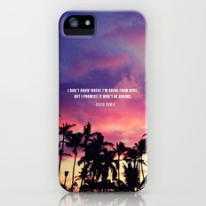 1980's sunset and quote Slim Case iPhone (5, 5s)