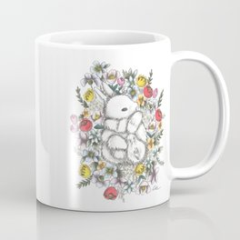 Bunny in the midst of Flowers Coffee Mug