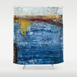 Homage to a ruler - Ocean Shower Curtain
