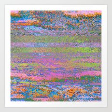 51-23-76 (Pastel Rainbow Glitch) Art Print